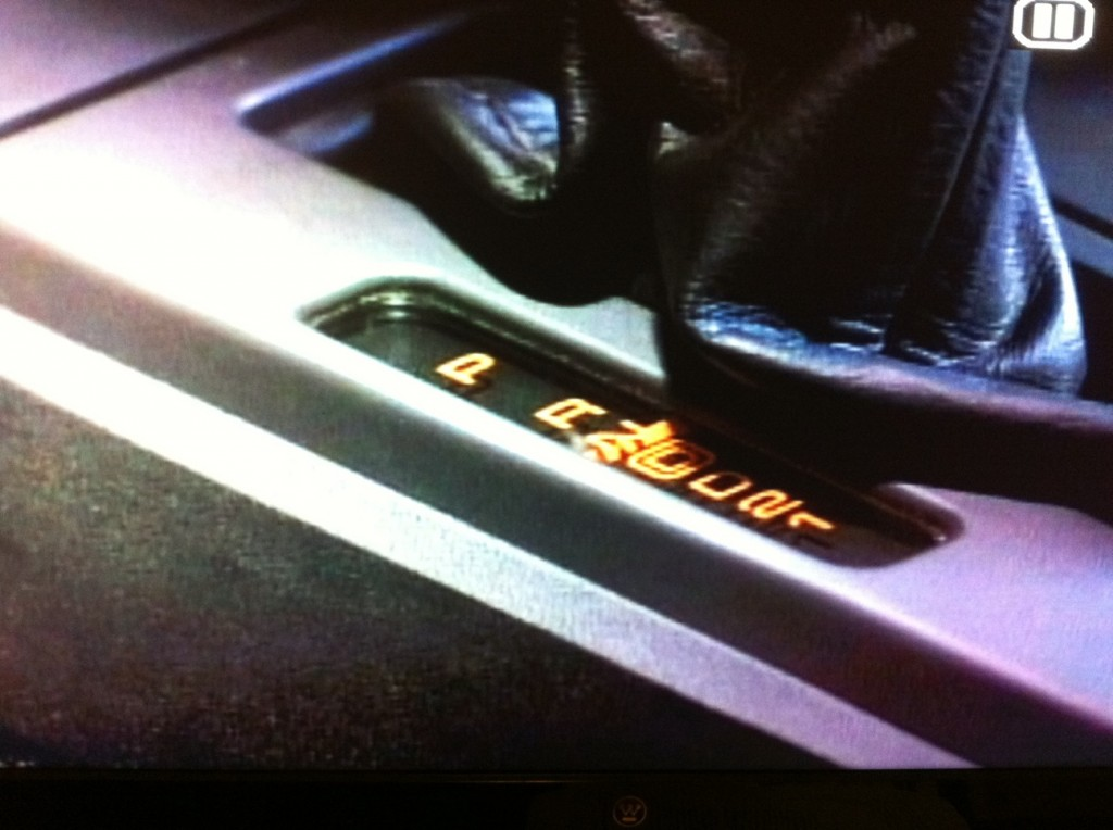The gear shift in Sanders Corvette