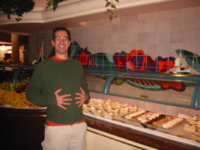 Tony preparing to eat an ungodly amount of buffet.