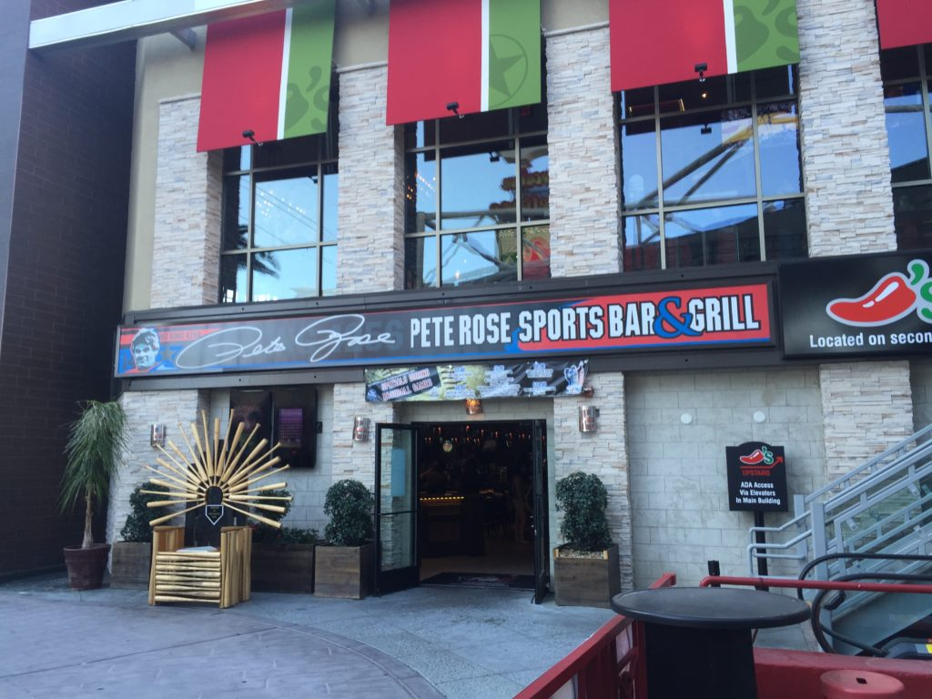 And the award for least surprising celebrity bar in Las Vegas goes to Pete Rose